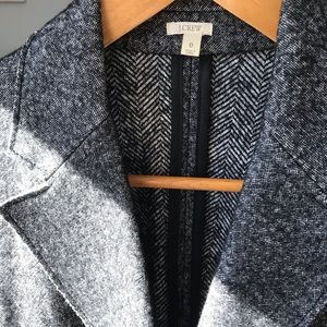 J.Crew Double Breasted Blazer XSmall Black/Gray